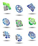 Set of abstract symbols. Set of color abstract symbols for design Stock Photo
