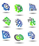 Set of abstract symbols Stock Image