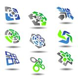 Set of abstract symbols Stock Images