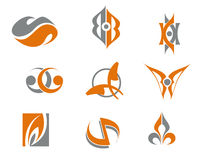 Set of abstract symbols. For web design Stock Photo