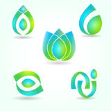 Set of abstract symbols Stock Photo