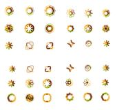 Set of abstract symmetric geometric icons Stock Photography
