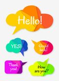 Set of abstract talk bubbles Royalty Free Stock Photography