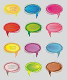 Set of abstract talking bubble Stock Photos