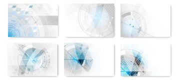 Set of abstract technological futuristic background. Set of abstract technological futuristic  background Stock Images