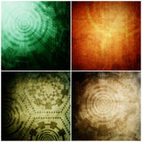 Set of Abstract technology background Royalty Free Stock Images