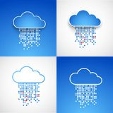 Set of abstract technology cloud theme backgrounds. Royalty Free Stock Photo