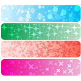 Set of abstract technology concept colorful banners & backgrounds. Stock Images
