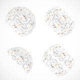 Set of abstract technology spheres Royalty Free Stock Photography