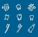 Set of abstract teeth symbol Royalty Free Stock Image