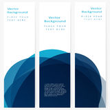 Set of abstract template banner Royalty Free Stock Photos