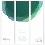 Set of abstract template banner Stock Photos