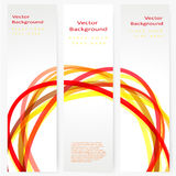 Set of abstract template banner Stock Images