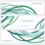 Set of abstract template banner Royalty Free Stock Photo