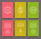 Set of abstract template flyer page design Royalty Free Stock Photo