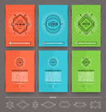 Set of abstract template flyer page design Royalty Free Stock Photos