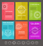 Set of abstract template flyer page design Stock Photo
