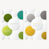 Set of abstract template flyer Stock Photo