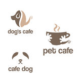Set of abstract template logo design for pets theme. Royalty Free Stock Photo