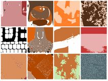 Set of Abstract textures isolated Stock Photos