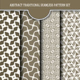 Set of abstract traditional seamless pattern Royalty Free Stock Images