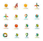 Set of abstract travel logo icons. Business, app Royalty Free Stock Photography
