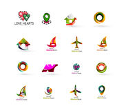 Set of abstract travel logo icons. Business, app Royalty Free Stock Image