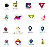 Set of abstract travel logo icons. Business, app Stock Photo