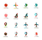 Set of abstract travel logo icons. Business, app Stock Photography