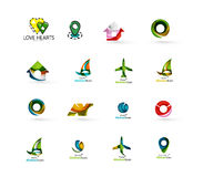Set of abstract travel logo icons. Business, app Stock Image
