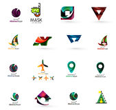 Set of abstract travel logo icons. Business, app Stock Images