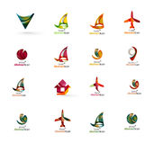 Set of abstract travel logo icons. Business, app Royalty Free Stock Images