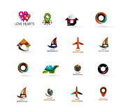 Set of abstract travel logo icons. Business, app Stock Photos