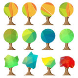Set of abstract trees Stock Photo