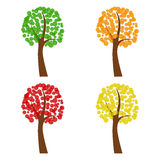 Set of abstract trees,  illustration Stock Photos