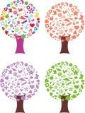 Abstract seasonal tree Royalty Free Stock Image