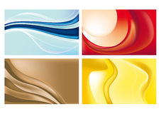 Set of abstract trendy backgrounds Royalty Free Stock Photo