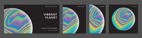 Set of abstract trendy backgrounds royalty free illustration