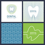 Set of abstract trendy design concept for dental clinic. Vector Stock Photo