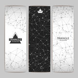 Set of Abstract triangle background banners Royalty Free Stock Photo