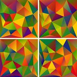 Set of Abstract Triangle Backgrounds. Set of Abstract Triangle Geometrical Multicolored Background, Vector Illustration EPS10, Contains Transparent Objects and Royalty Free Stock Photography