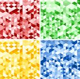 Set of Abstract Triangle Backgrounds. Set of Abstract Red, Green, Yellow and Blue Triangle Backgrounds, Vector Illustration Royalty Free Stock Images