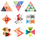 Set of abstract triangle modern templates Stock Photography
