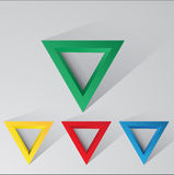 Set of abstract triangles  with shadow and light background eps Royalty Free Stock Photography