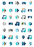 Set of abstract universal web icons, business Stock Photo