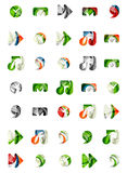 Set of abstract universal web icons, business Royalty Free Stock Images