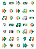 Set of abstract universal web icons, business Stock Photos