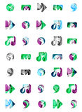 Set of abstract universal web icons, business Royalty Free Stock Photos