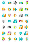 Set of abstract universal web icons, business Royalty Free Stock Photography