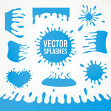 Set of abstract vector art ink splash splatters Stock Photos
